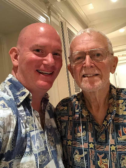 Peter and Jim at the All-American College Orchestra Reunion in 2019.