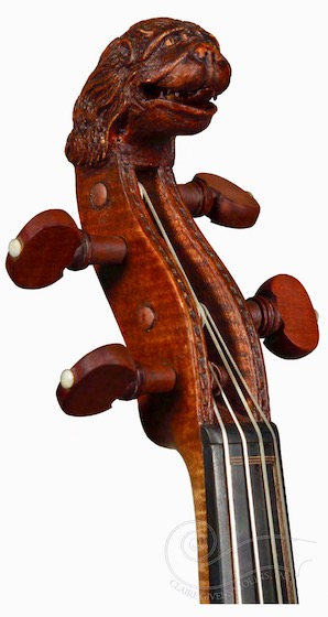 Tielke violin lion head
