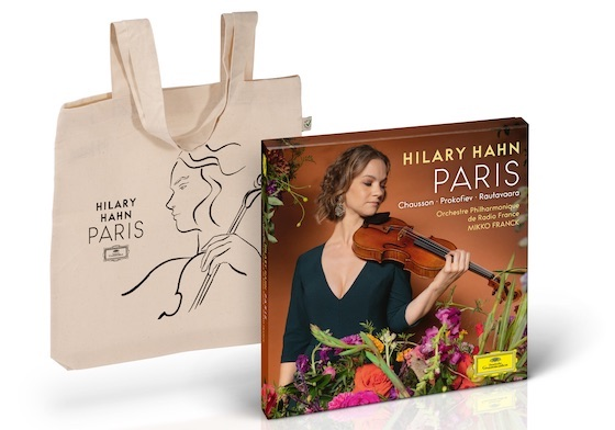 Hilary Hahn Paris and tote
