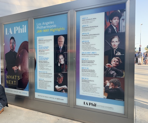 Posters at Disney Hall