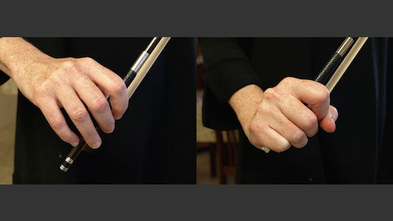 Laurie's Violin School: The Limitations of the Bear-Claw Bow Hold