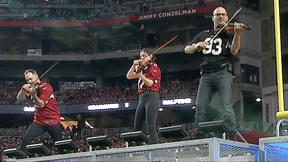 Here's How Three Violinists Crushed an NFL Halftime Show