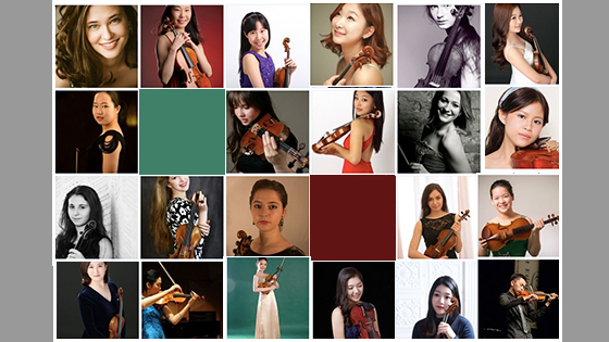 Menuhin International Violin Competition selects 36 girls and 8 boys to participate in 2016 contest