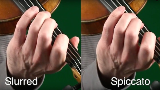 Do you know how to time your left hand for spiccato? border=0 align=