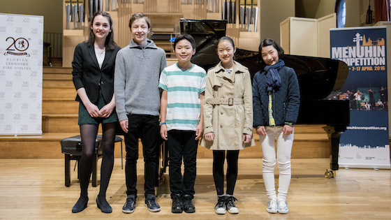 Junior Finalists announced in 2016 Menuhin Competition