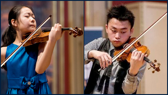 Ziyu He wins Senior Division; Yesong Sophie Lee Wins Junior in 2016 Menuhin Competition