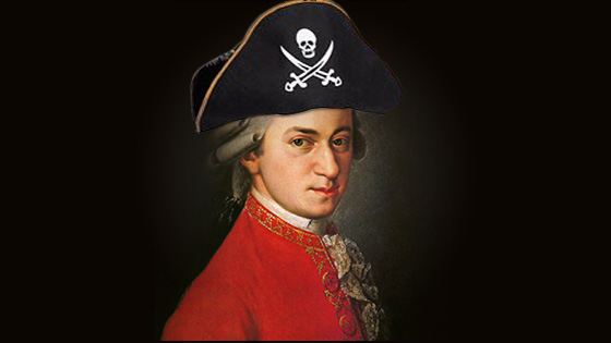 Mozart the pirate