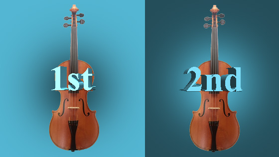 V.com weekend vote: Would you rather play first or second violin?  border=0 align=