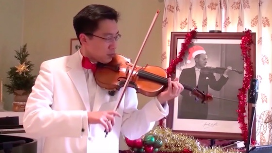 My realization of the Irving Berlin-Jascha Heifetz White Christmas