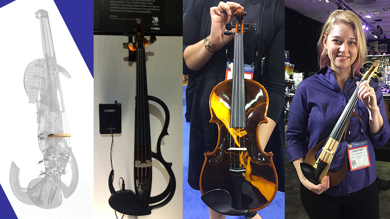 Octave Strings, Electric Violins, 3D-Printed Violins and other fun stuff from NAMM 2017