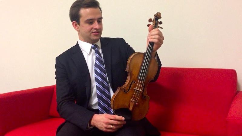 William Hagen performs The Lark Ascending, on a 1735 del Gesù violin