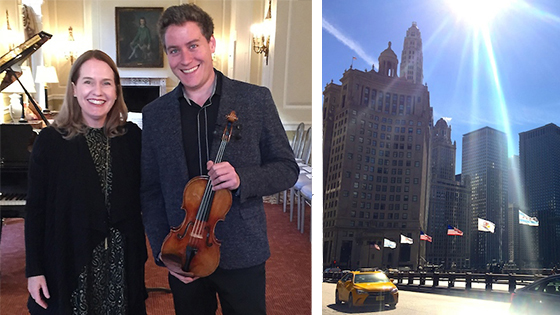 Scenes from Chicago: Buildings, Art and Strads