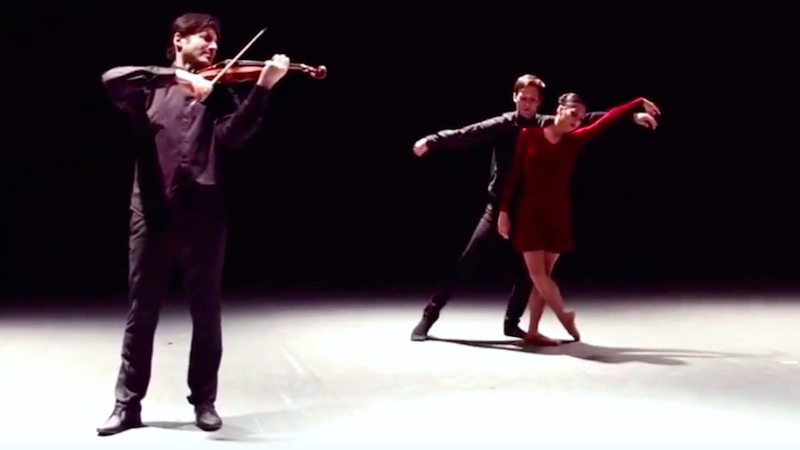 Red Violin Caprices Ballet Video: Philippe Quint performs with Joffrey dancers