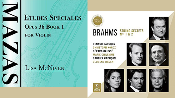 For the Record, Op. 21: Mazas Etudes; Renaud Capucon Brahms + Glass/Bernstein