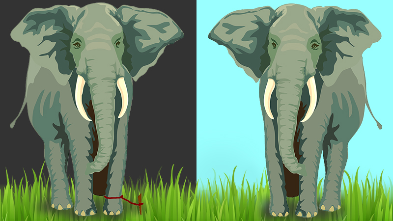 The elephant and the ant: 'Learned helplessness'