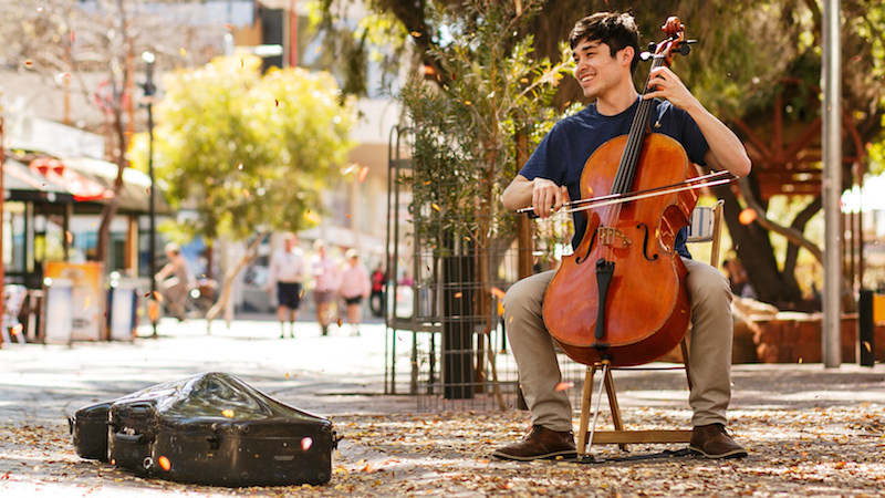 A Cellist's 'Bachabout' around Australia