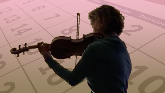 Hilary Hahn practicing