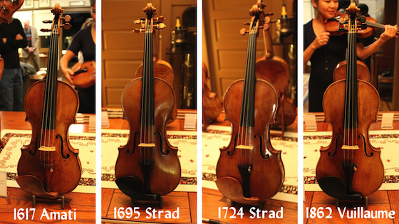 Playing Stradivari, Amati and Vuillaume Violins from Florian Leonhard