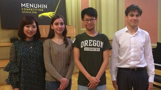 2018 Menuhin Competition Names Four Senior Division Finalists