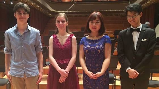 Violinists Diana Adamyan, Chloe Chua and Christian Li Each Awarded 'First Prize' in 2018 Menuhin Competition