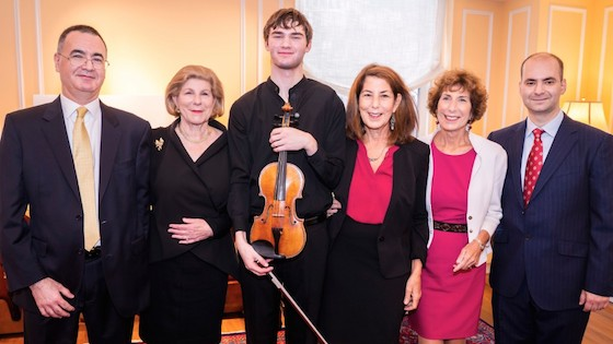 Nathan Meltzer with the Totenberg sisters