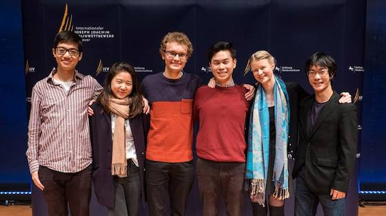 Finalists Announced in 2018 Joseph Joachim International Violin Competition Hannover