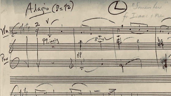 Somewhere - Finding an Unpublished Violin Arrangement by Leonard Bernstein