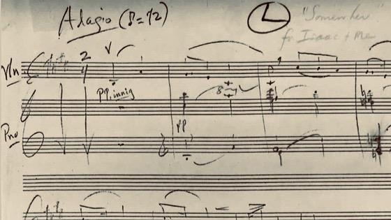 Bernstein Somewhere arrangement for Isaac Stern