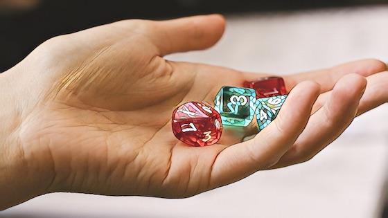 shaking dice