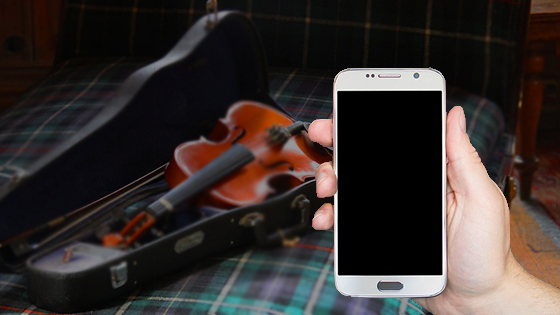 smartphone sad neglected violin