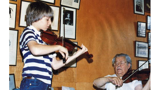 Joshua Bell and Josef Gingold