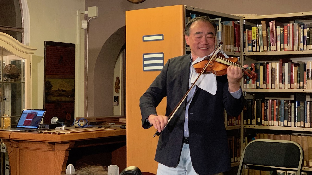 Cho-Liang Lin Demonstrates 35 Modern American Violins at Metzler Violin Shop (2019)