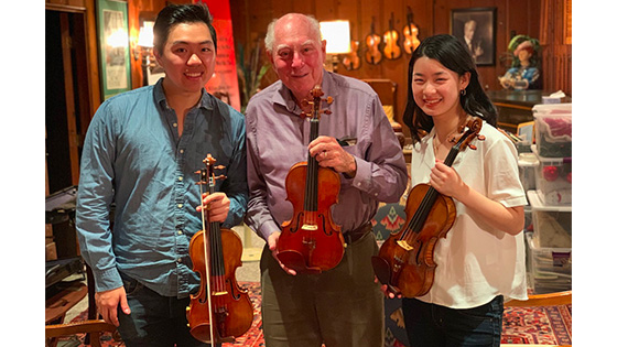 Testing the Sloan Strad and del-Gesù Violins with Hao Zhou and Lucy Wang