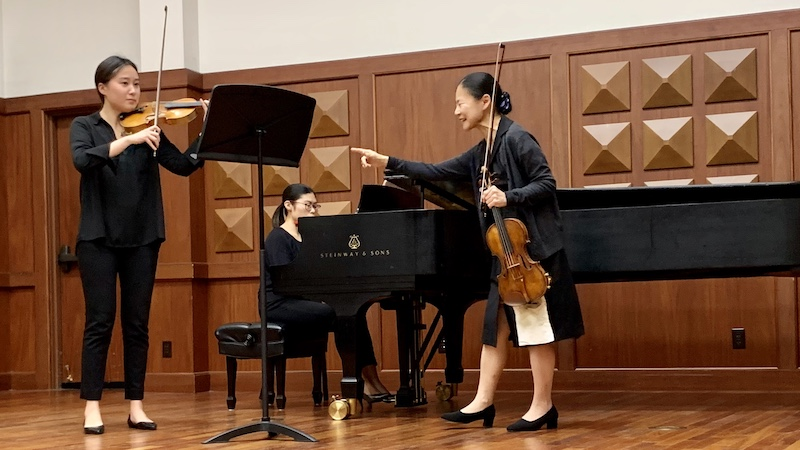 Violin Masterclass with Midori at USC