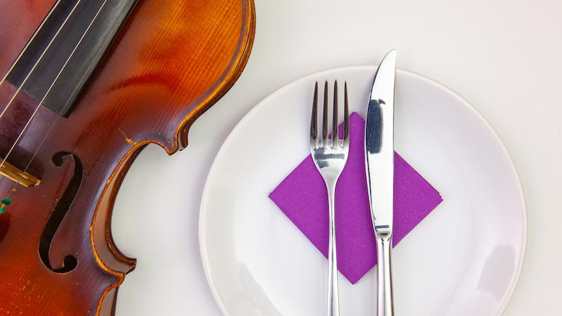 violin fork knife