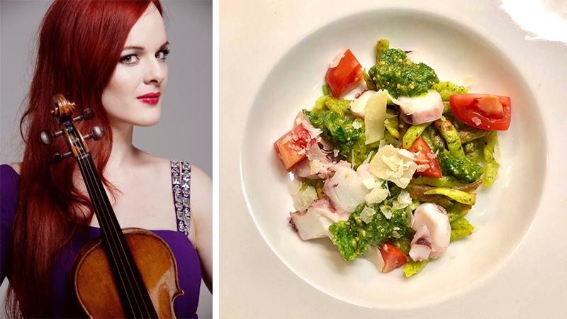 Fiddler's Favorite Recipes Episode 10: Rachel Kolly's Pesto, and Lamb 'Sashimi'