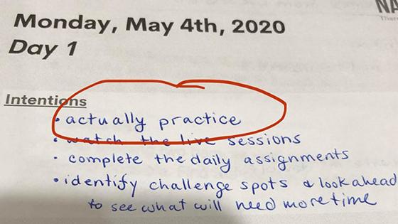Goal: practice