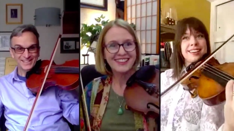 Bonus Video: Tessa Lark Teaches Bluegrass Fiddle to Gil Shaham and Laurie Niles