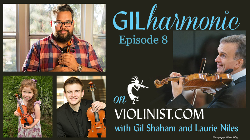 Watch Gilharmonic on Violinist.com, Ep. 8 Sunday, with Gil Shaham and Vijay Gupta