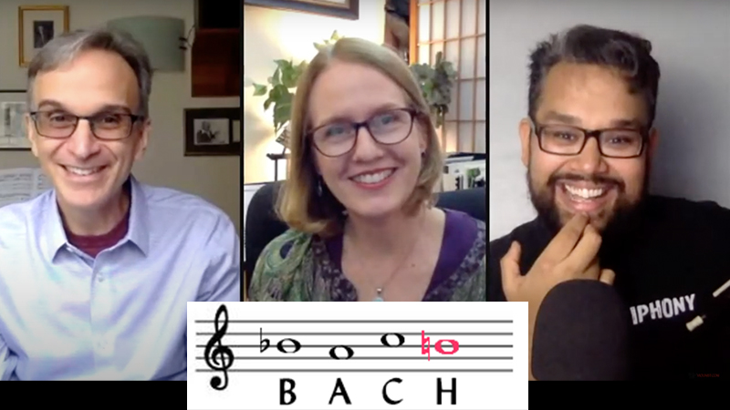 The BACH Motif and Solitude: Video with Vijay Gupta, Gil Shaham and Laurie Niles
