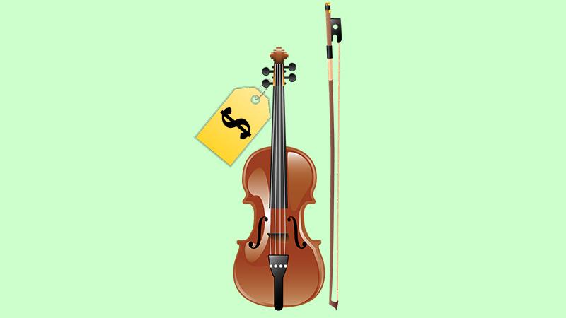 cost of violin