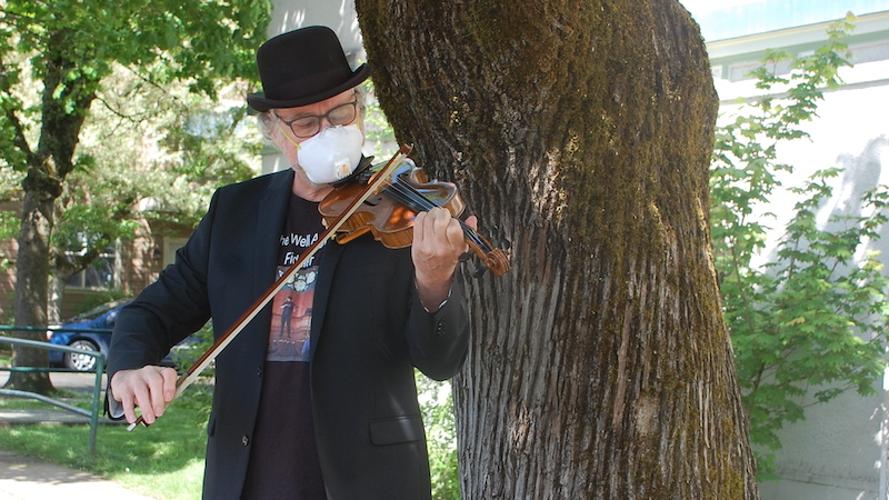 The Well Aging Fiddler: My Sonny Rollins Summer, Playing in the Park