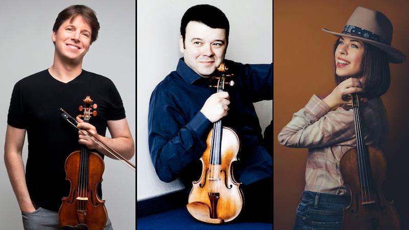 Violinist Livestream Concerts This Weekend feature Joshua Bell; Vadim Gluzman; Tessa Lark