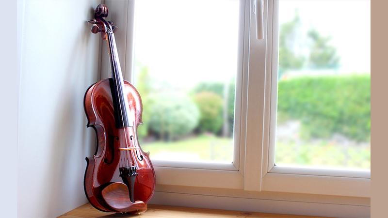 violin practice window