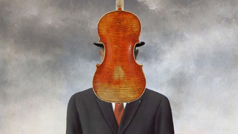 Magritte with violin
