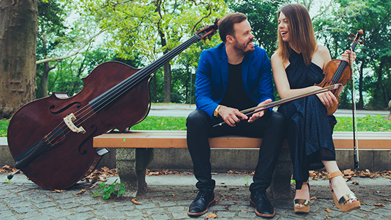 Live Today: Watch Violinist Tessa Lark and Michael Thurber Perform Bach and More