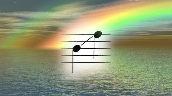rainbow glissando