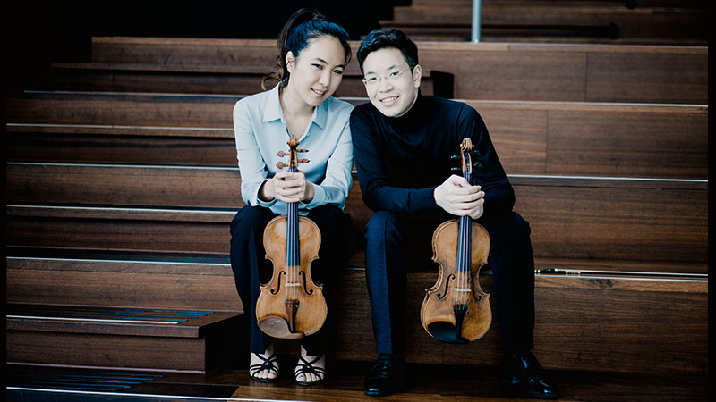 Violinists Paul Huang and Danbi Um: Live from Chicago this Saturday