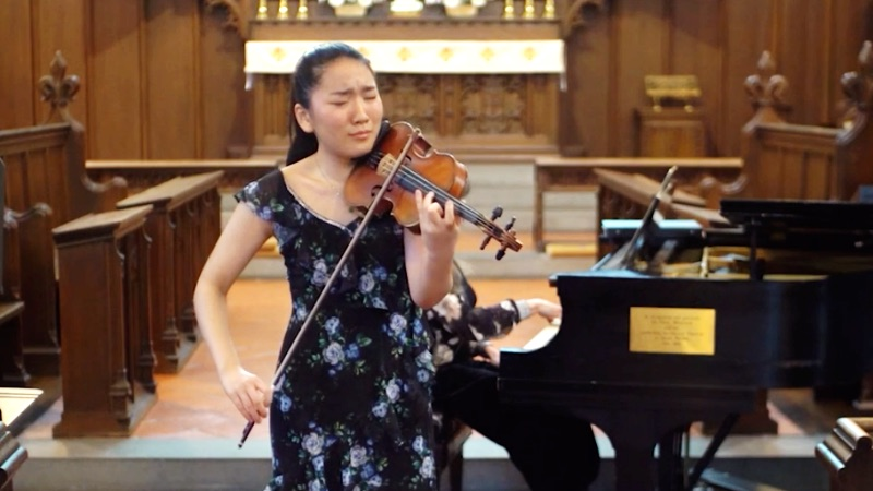 Violinist Keila Wakao Wins First Prize in 2021 Menuhin Violin Competition Junior Division