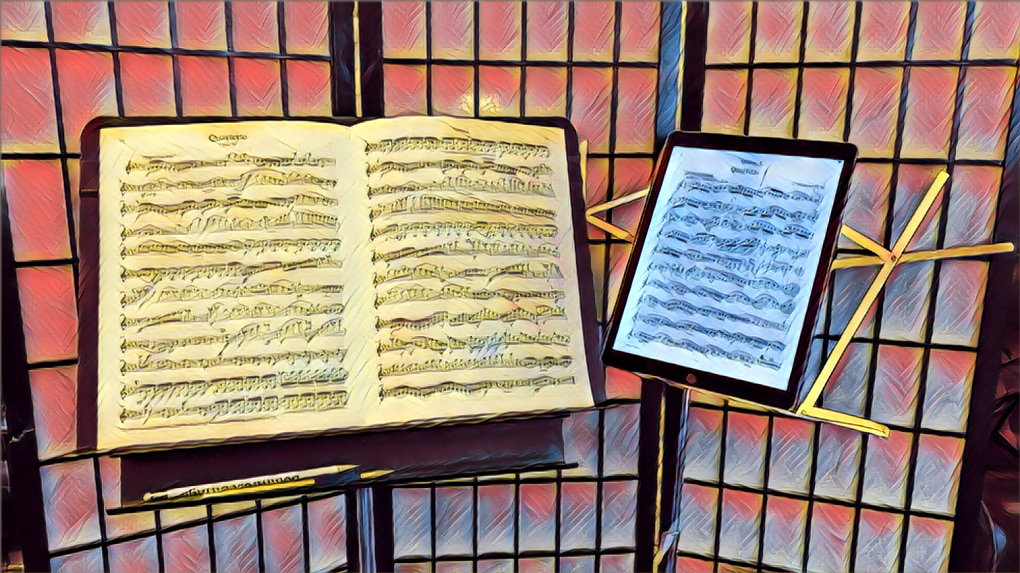 paper music or tablet